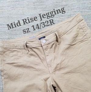 Mossino Denim Mid-Rise Jeggings  Size 14/32R